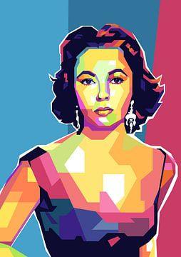 Elizabeth Taylor Pop Art Schilderij van Kunst Company