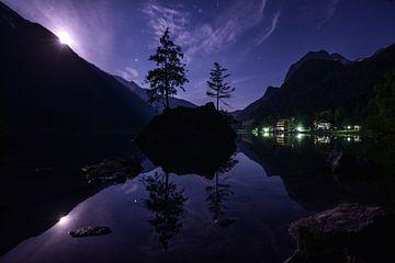 Vollmondnacht am Hintersee in der Ramsau von Christian Peters