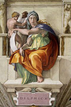 Michelangelo. Sixtijnse Kapel, Delphische Sibille