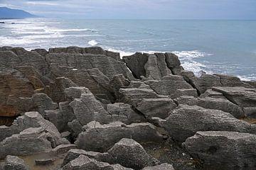 Pancake rocks bij Punakaiki in Nieuw Zeeland
