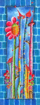 Windblumen Land 3 van Atelier BuntePunkt