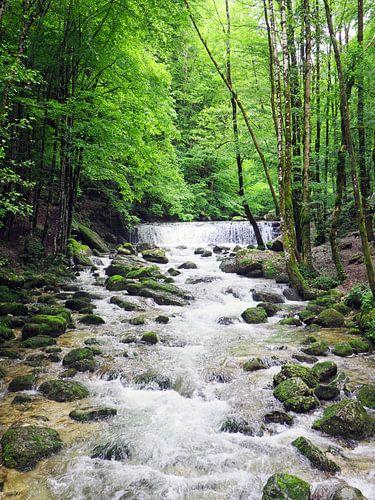 Watervallen van Herisson in de Jura in Frankrijk