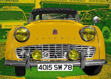 Triumph TR3 in het geel van aRi F. Huber