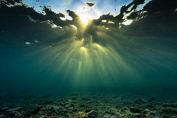 Unterwassergott-Strahlen / Sonnendurchbruch von