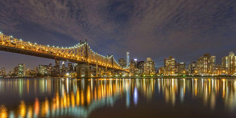 New York Skyline - Queensboro Bridge (6) van Tux Photography