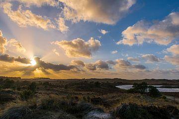 Zonsondergang in de Schoorlse duinen van Jack Koning