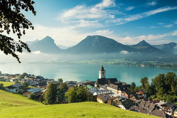 Quit morning in Sankt Wolfgang