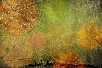 Herfst in de stad, abstract van Rietje Bulthuis