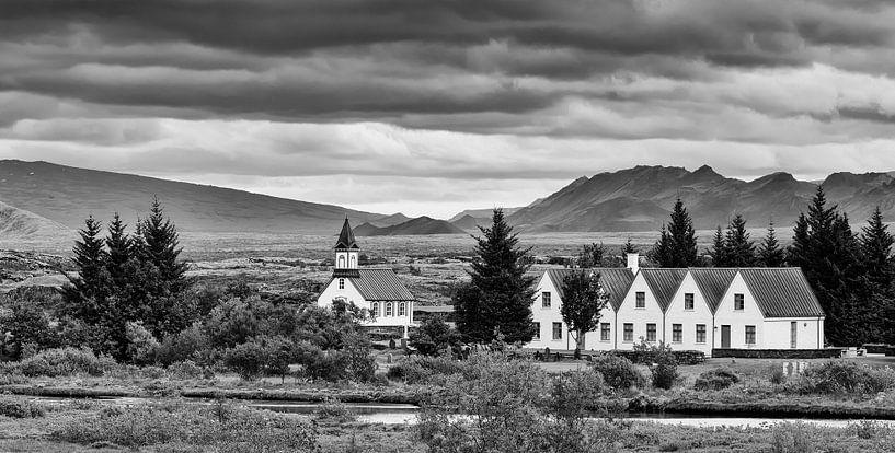 Thingvallakirkja, Thingvellir Nationaal Park, IJsland van Henk Meijer Photography