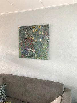 Kundenfoto: Bauerngarten mit Sonnenblumen, Gustav Klimt