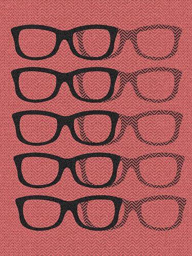 Glasses Black & Softpink