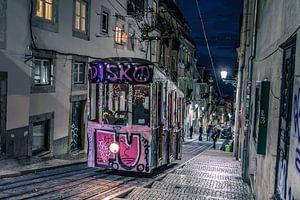 Nachtportret in lissabon