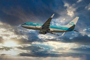 De KLM PH BGT, Boeing 737-700, genaamd Blauwe Kiekendief van Gert Hilbink