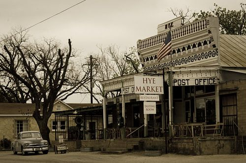 Old post office in Texas van