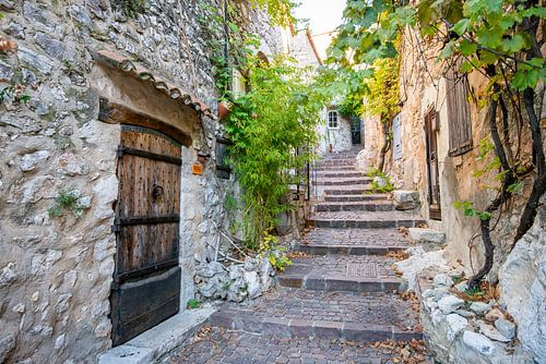 Trap in het dorpje Bauduen, Frankrijk