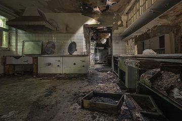 Een versleten keuken