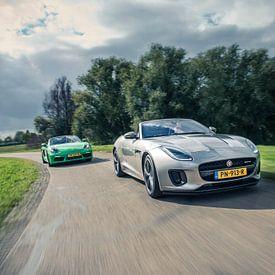 Jaguar F-Type - Porsche Boxter van Sytse Dijkstra