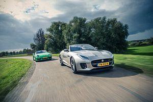 Jaguar F-Type - Porsche Boxter van