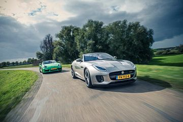 Jaguar F-Type - Porsche Boxter sur Sytse Dijkstra