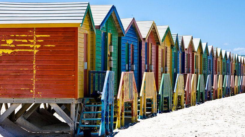 kleurrijke badhuisjes  van Paul Piebinga