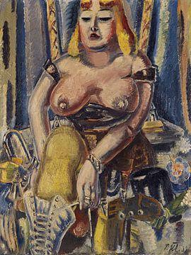 Schuhanziehende Zirkusdame - PAUL KLEINSCHMIDT, 1938 von Atelier Liesjes