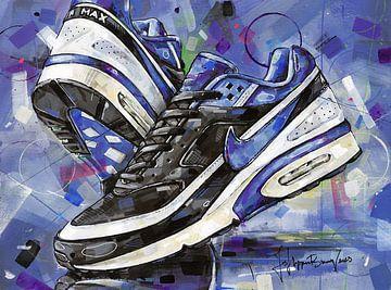 Nike Air Classic BW Black Persian Violet Gemälde. von Jos Hoppenbrouwers