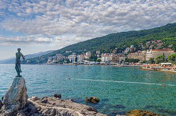 la station balnéaire d'Opatija,mer Adriatique,Istrie,Croatie sur Peter Eckert