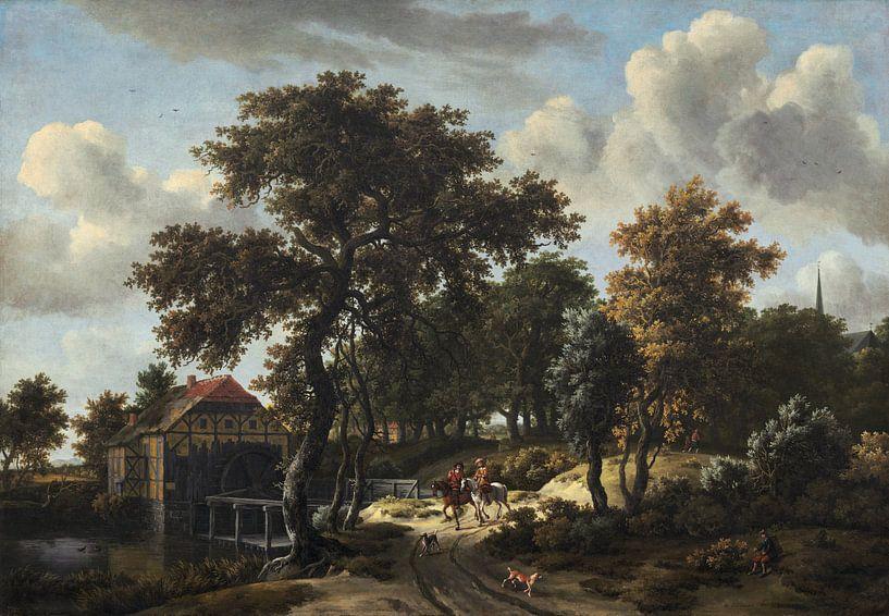 Die Reisenden, Meindert Hobbema von Meesterlijcke Meesters
