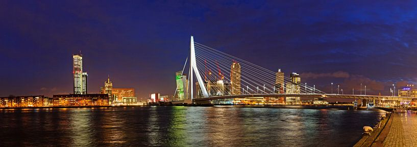 Rotterdam, Erasmusbrug en Kop van Zuid sur Sjoerd Mouissie