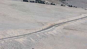 Einsamer Radfahrer auf dem Mont Ventoux von Dick Doorduin