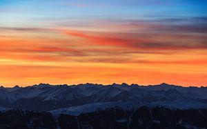 Bergen zonsondergang van