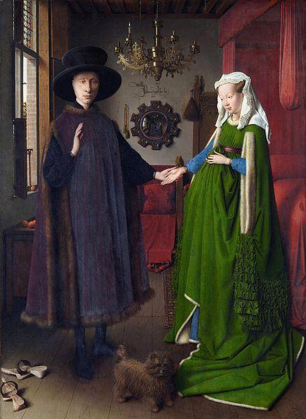Jan van Eyck. Arnolfini portret van 1000 Schilderijen