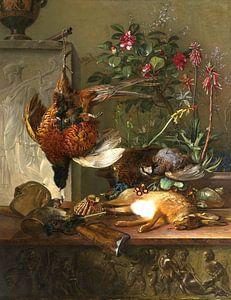 Stilleben mit Blumenstrauß und Jagdfasan - Georgius Jacobus Johannes van Os