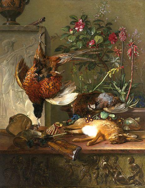 Stilleben mit Blumenstrauß und Jagdfasan - Georgius Jacobus Johannes van Os von Schilders Gilde