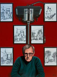Woody Allen für die Yrrah Malerei