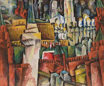 Aristarkh Lentulov, Kreml. Städtische Landschaft - 1919 - 1920 von Atelier Liesjes
