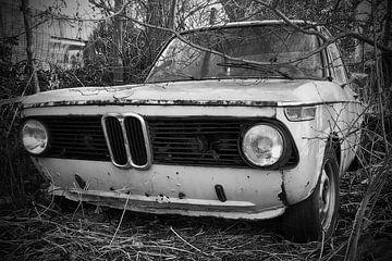 BMW 2002 schwarz/weiß von Ton van Waard - Pro-Moois