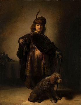 Portret van de kunstenaar in oosterse klederdracht, Rembrandt van Rijn