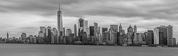 Panorama Manhattan zwart wit van Rene Ladenius Digital Art