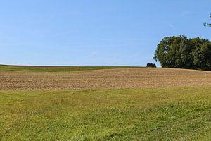 Landschap in Lof met blauwe lucht