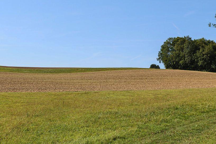 Landschap in Lof met blauwe lucht van Jaap Mulder