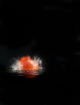 Splash tomaat van Theo Urbach