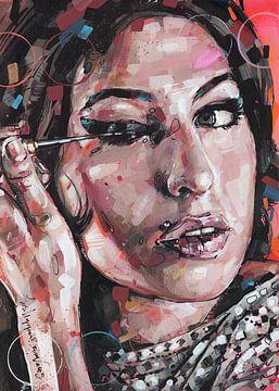Amy Winehouse schilderij van Jos Hoppenbrouwers