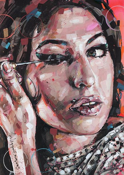 Amy Winehouse Malerei von Jos Hoppenbrouwers