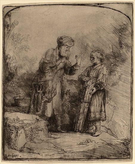 Rembrandt van Rijn Abraham en Isaac van Rembrandt van Rijn