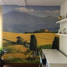 Klantfoto: Val d'Orcia, Toscane, Italie van Henk Meijer Photography, op behang