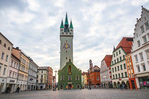 Stadt Straubing Stadtplatz Bayern Niederbayern