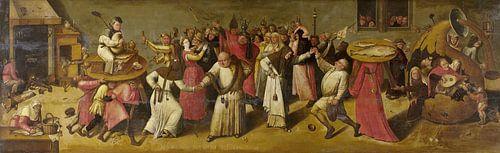 Het gevecht tussen Carnaval en Vasten - Jeroen Bosch van