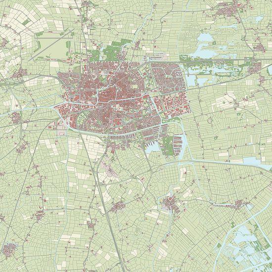 Kaart vanLeeuwarden van Rebel Ontwerp