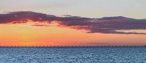 Zeelandbrug voor zonsopkomst